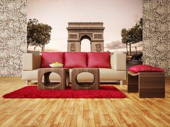 Фотообои на стену Париж. Эйфелева башня в серых тонах