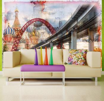 Фотообои Мост на фоне Кремля
