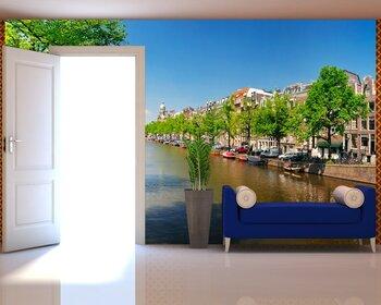 Фотообои на стену Амстердам ночью