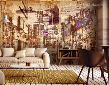 Фотообои рисунок мегаполиса