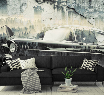 Фотообои Черный ретро автомобиль
