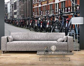 Фотообои Велосипедная стоянка в Амстердаме