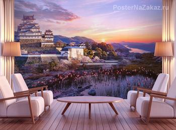 Фотообои Замок белой цапли