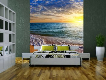 Фотообои на стену Понтонный причал над водой