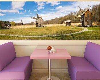 Фотообои Ветряная мельница парк панорама, Астра Парк, Сибиу, Трансильвания, Румыния
