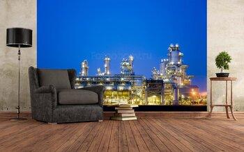 Фотообои Нефтепереработка ночью