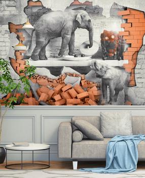 Фотообои Слоны в посудной лавке