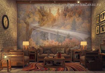 Фотообои Осенняя дорога