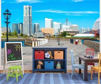 Фотообои Yokohama City Skyline on a Clear Summer Day