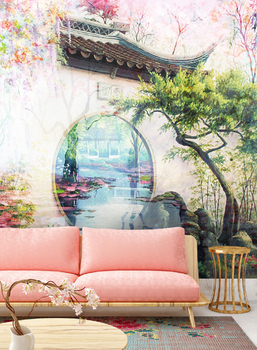 Фотообои на стену Очарование летнего сада