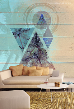 Фотообои Пальмы в треугольниках