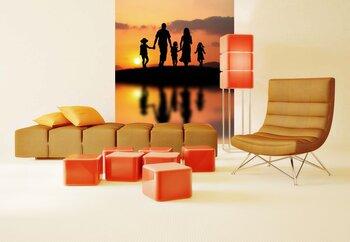 Фотообои на стену Парусники на закате