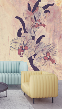 Фотообои Розовые орхидеи