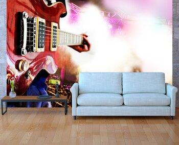Фотообои Fondo de musica con concierto y guitarra