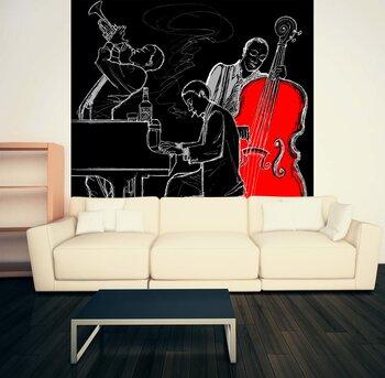 Фотообои на стену  джаз-бэнд