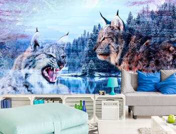 Фотообои Зимние рыси