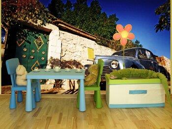 Фотообои на стену Крупным планом фото ретро автомобиля