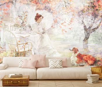 Фотообои на стену Весенний сад