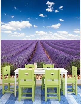 Фотообои Сиреневое поле в Провансе, Франция