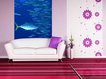 Фотообои на стену Подводные рыбки и кораллы