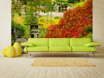 Фотообои на стену Дома у осеннего леса