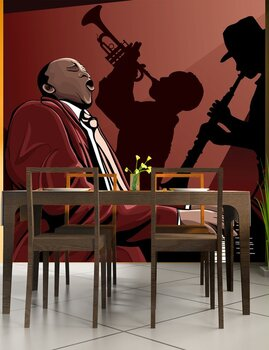 Фотообои на стену piano-Jazz band in a restaurant