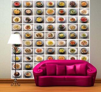 Фотообои Коллаж из разных видов макарон