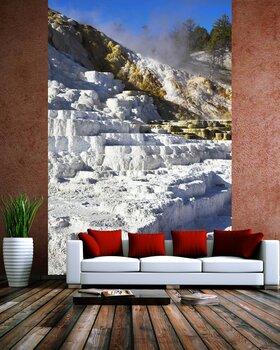 Фотообои на стену Снег на железнодорожной станции