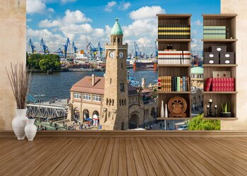 Фотообои Гамбург порт