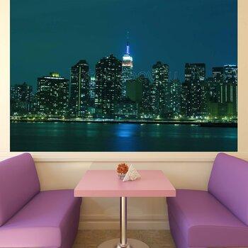Фотообои Манхэттанский горизонт в вечерних огнях
