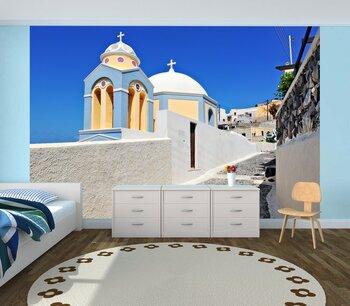 Фотообои на стену Греция, Санторини. Белый город
