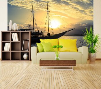 Фотообои Лодка на закате