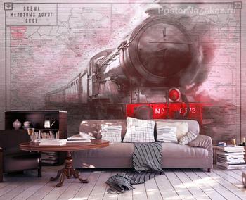 Фотообои Старинный поезд