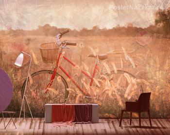 Фотообои Велосипед в поле