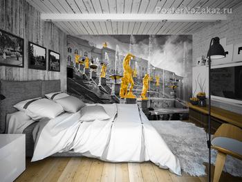 Фотообои на стену Нью-Йорк с Бруклинским мостом