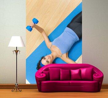 Фотообои на стену Пловчиха в синей шапочке