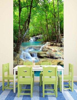 Фотообои на стену Водопад и озеро