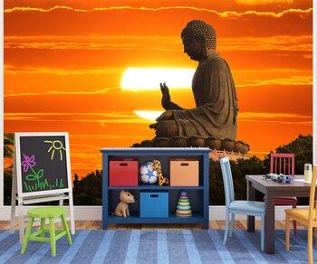 Фотообои Статуя Будды на закате