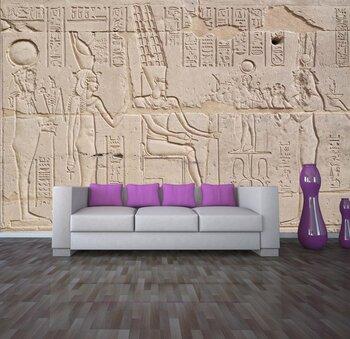 Фотообои на стену Иероглифы в храме в Мединах