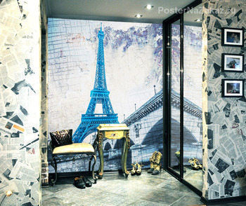 Фотообои Эйфелева башня. Масляная краска