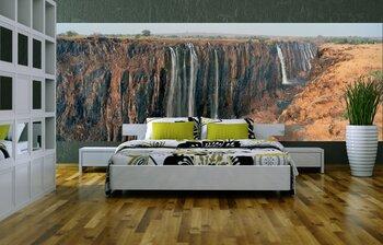 Фотообои Панорама. Падающий водопад со скал