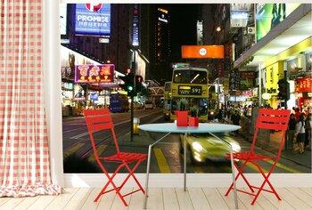 Фотообои Гонконгская улица ночью