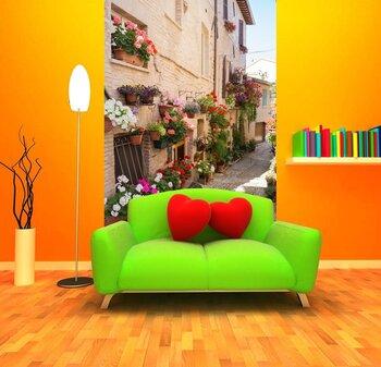 Фотообои на стену Аллея с цветами, Спелло