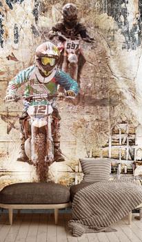 Фотообои Прыжок на мотоцикле