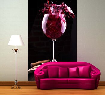 Фотообои на стену Country wine collage