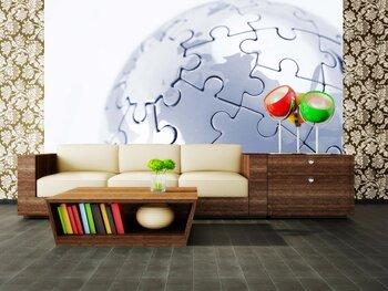 Фотообои на стену Винтажная карта мира