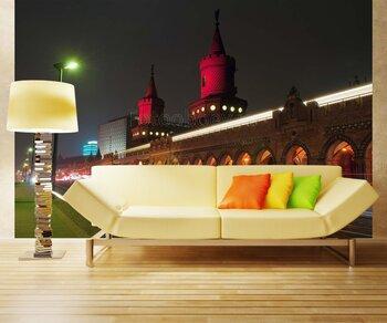 Фотообои на стену Вечерние фонтаны в Мадриде
