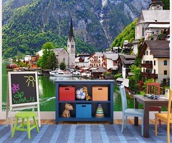 Фотообои Халльштатте - довольно небольшой город от Альп. Австрия
