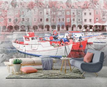 Фотообои Рыбацкие лодки в порту