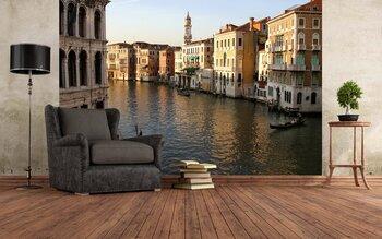Фотообои на стену Гранд-канал в ночное время, Венеция